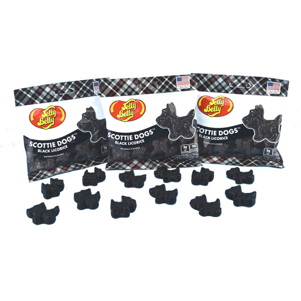 Black Licorice Scottie Dogs - Three packages