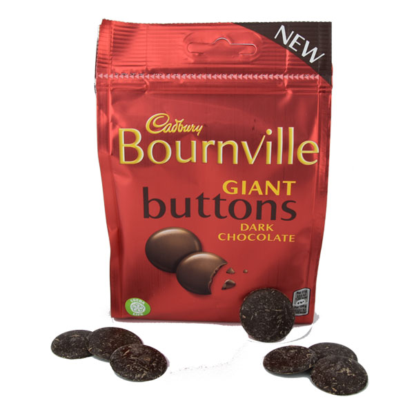 SALE Cadbury Bournville Dark Chocolate Buttons 3.8 oz.
