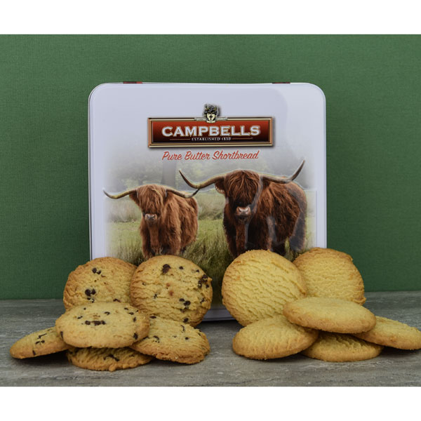 Highland Cows Shortbread Tin from Campbells
