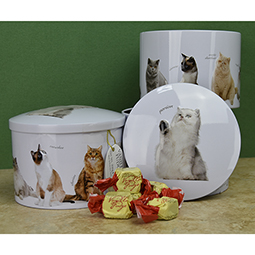 Round Cats Vanilla Fudge Tin - 7 oz.