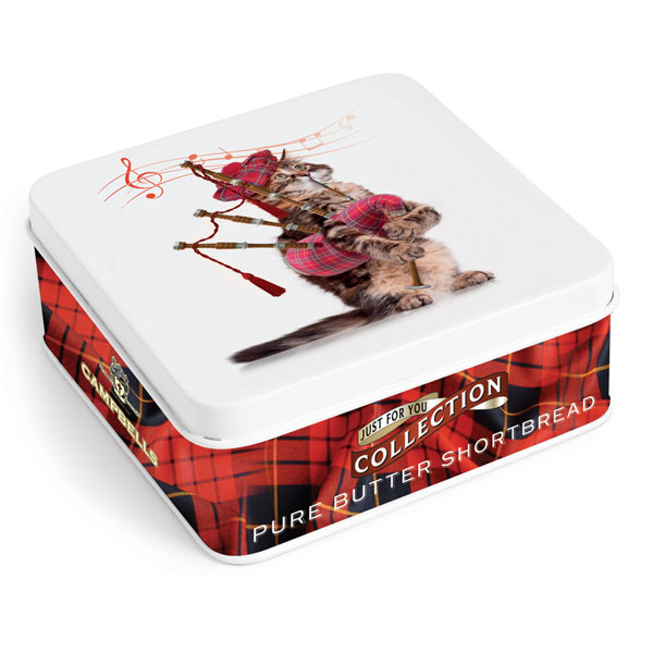 Cat Piper Square Shortbread Tin from Campbells.