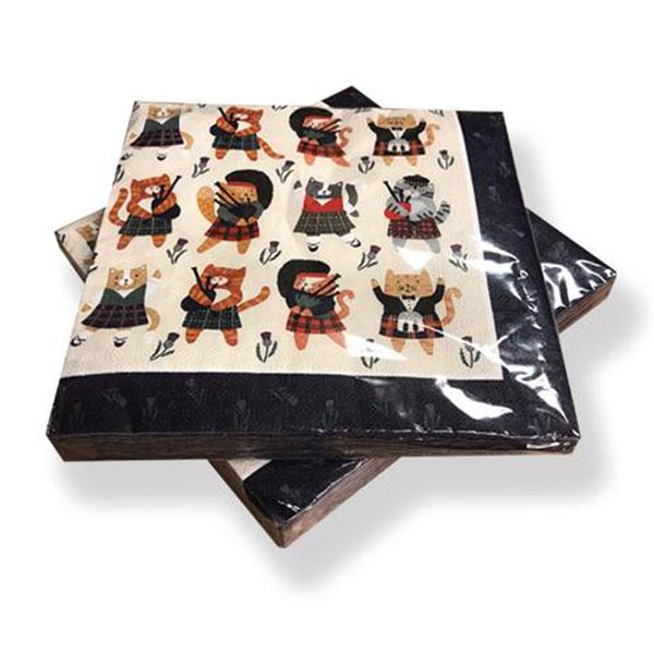 Cats N Kilts Paper Napkins