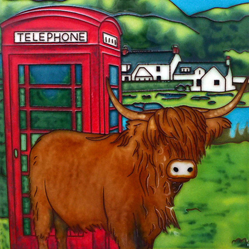 Coos There (Phone Booth) 8 Inch Square Tile