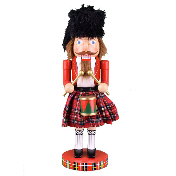 "SOLD OUT Scottish Drummer Nutcracker 14"" Tall"