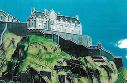 Edinburgh Castle 12 by 8 Tile