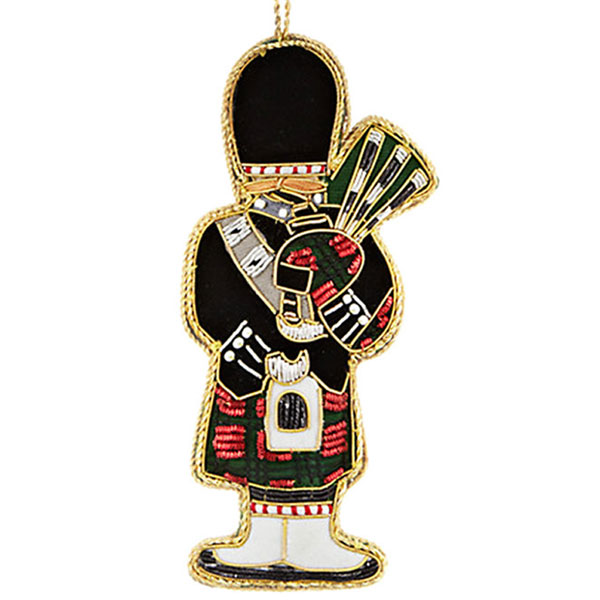 SALE Embroidered Piper Ornament