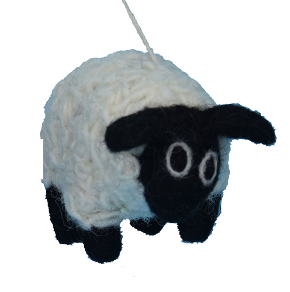 Felted Blackface Sheep Ornament