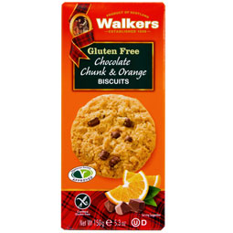 Gluten Free Chocolate Chunk & Orange Cookies from Walkers