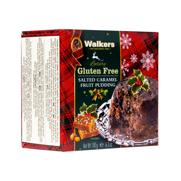 Walkers Gluten Free Salted Caramel Fruit Christmas Pudding - 6.3 oz.