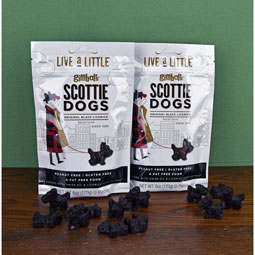 Black Licorice Scottie Dogs - two 6 oz. bags