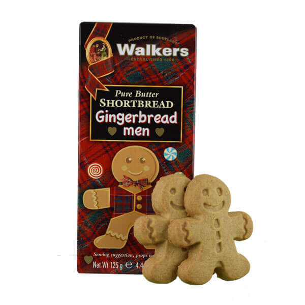 Walkers Gingerbreadman Shortbread Box