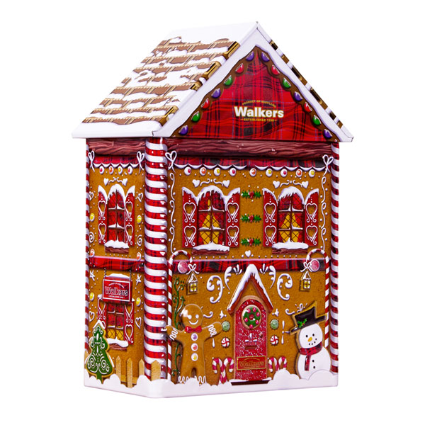 FOUND Walkers Gingerbread House  Tin - 10.6 oz