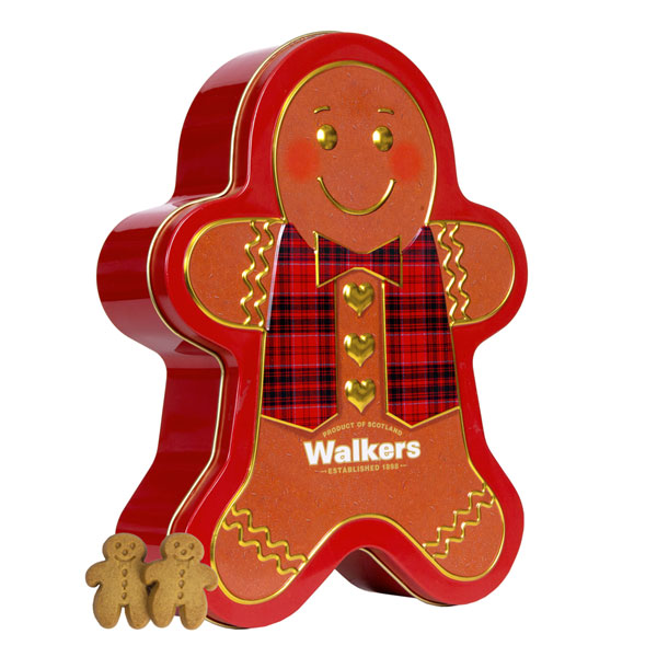Walkers Gingerbreadman Tin - 10.6 oz