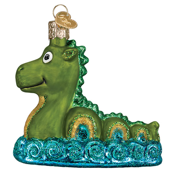 Loch Ness Monster Glass Ornament