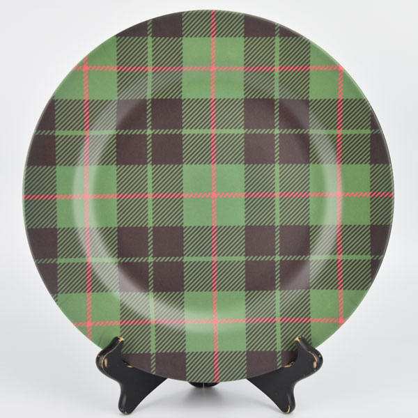 SALE Green Tartan Charger - food safe