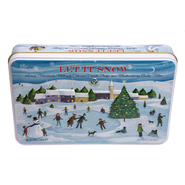 Let It Snow Candy Gift Tin