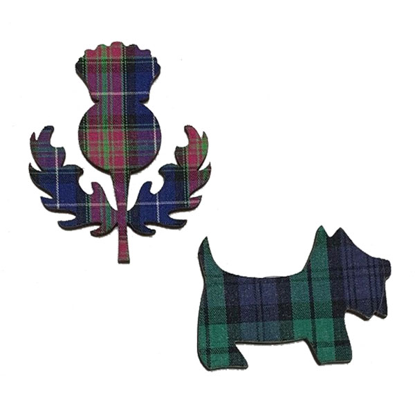 Tartan Kitchen Magnets - Thistle and Scottie