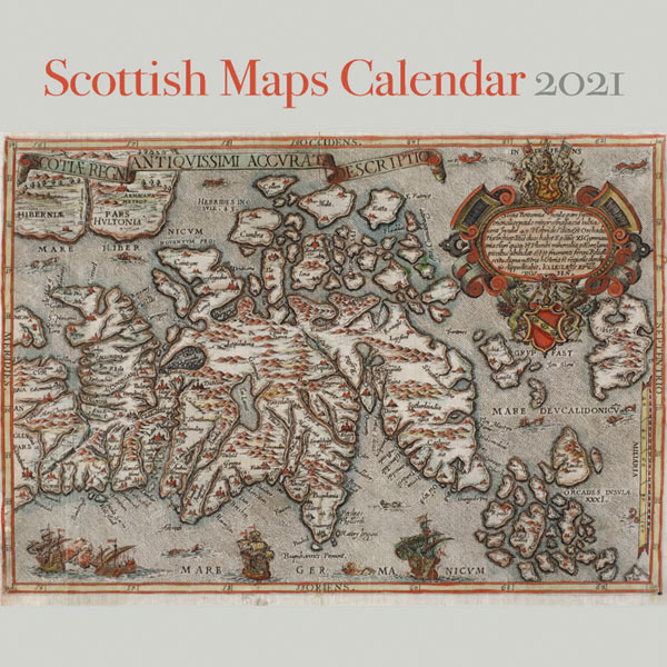 Scottish Maps Wall Calendar 2021