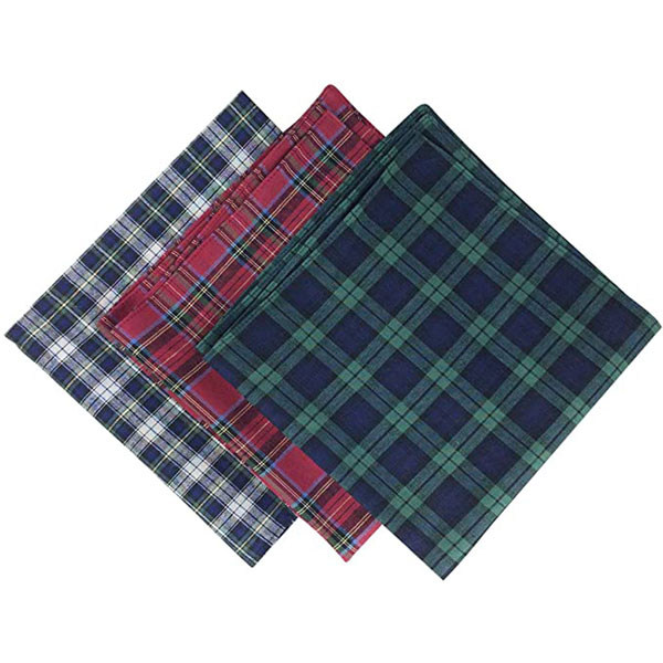 Men's Tartan Handkerchiefs- Set of six