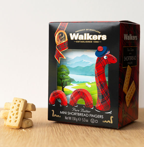 Loch Ness Monster Shortbread Box