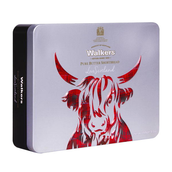 Iconic Highland Cow Shortbread Tin -5.3 oz.