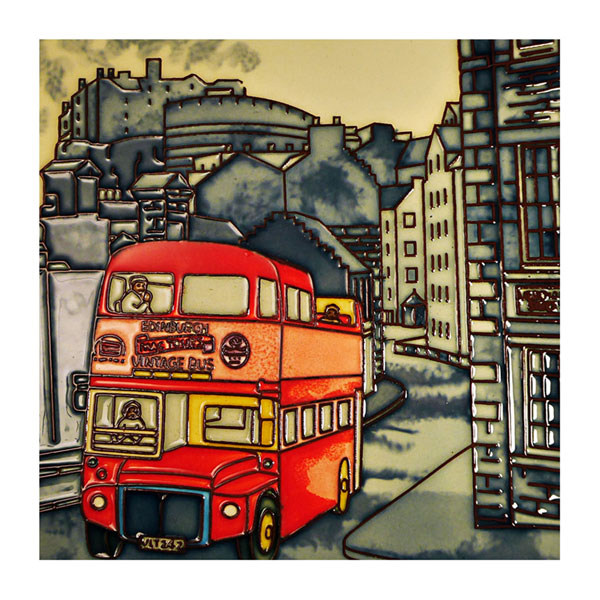 Old Edinburgh 8 by 8 inch ceramic tile
