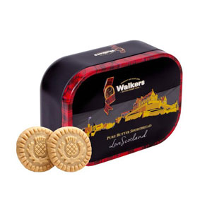 Edinburgh Castle 'Love Scotland' Shortbread Tin - eight cookies inside