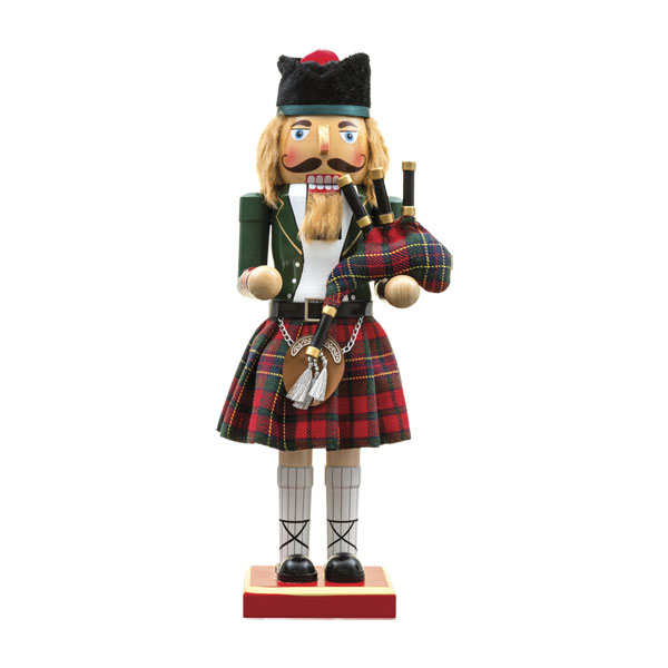 Green Piper Nutcracker with Glengary Cap