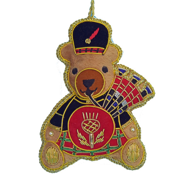 Embroidered Piper Bear Ornament