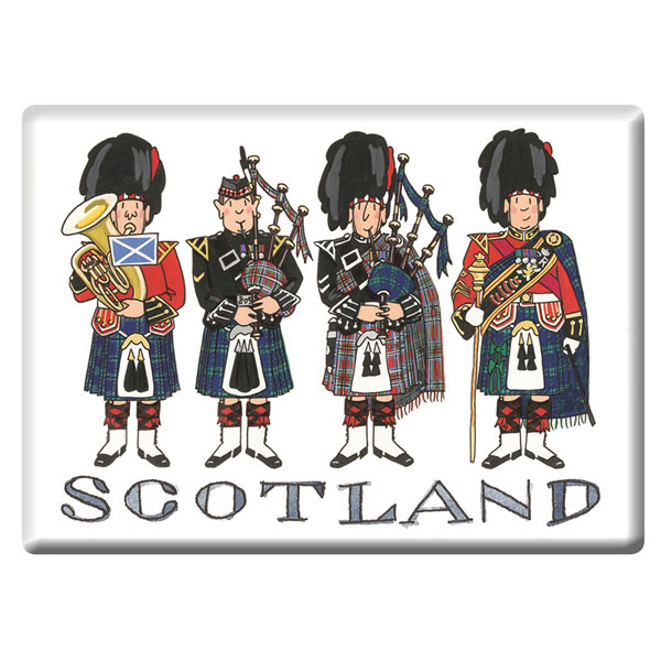 Scotland Piper Fridge Magnet
