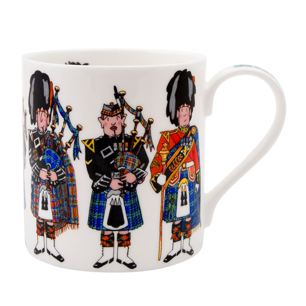 Scotland Piper Bone China Mug