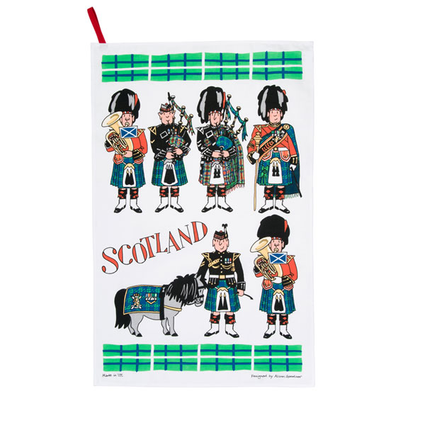 Scotland Piper Teatowel