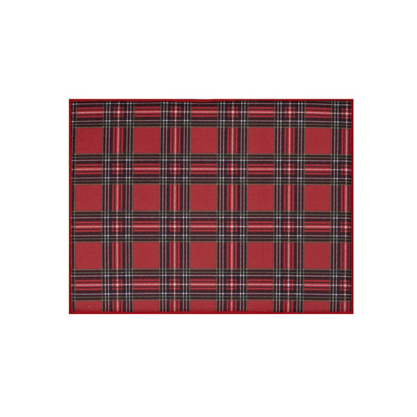 SALE Holiday Plaid Kitchen Drying Mat