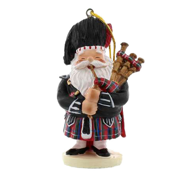 SOLD OUT Scottish Piping Santa Ornament
