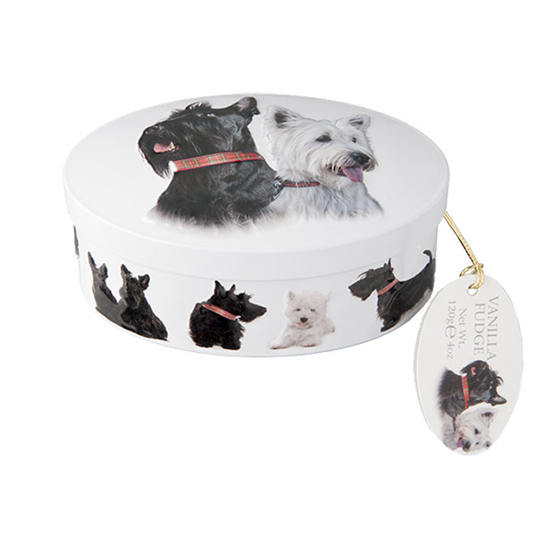 Scottie Dog Oval Fudge Tin