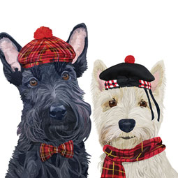 SALE Fiona & Angus Scottie Luncheon Napkins