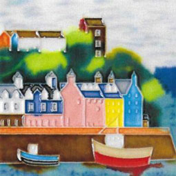 Tobermory 4 by 4 inch ceramic tile