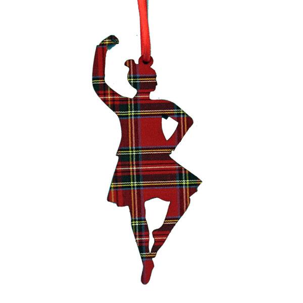 Tartan Highland Dancer Ornament