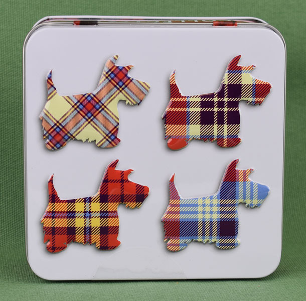 Tartan Scotties Shortbread Tin from Campbells