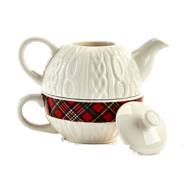 "LAST CHANCE Tartan 'Sweater"" Tea for One"