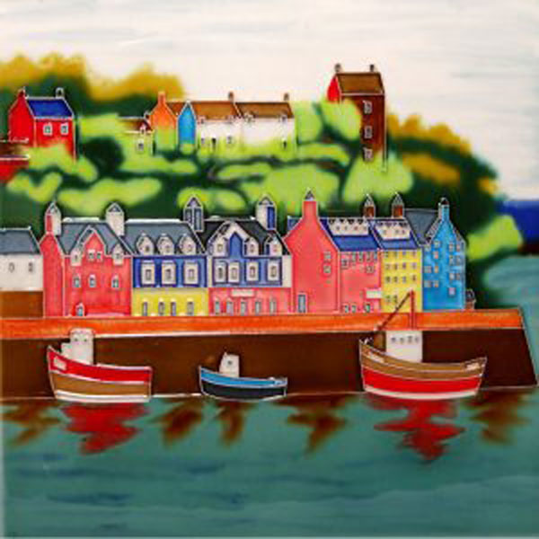 Tobermory Bay 8 by 8 inch ceramic tile