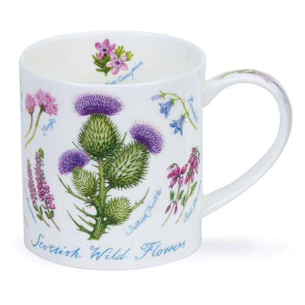 Scottish Wildflowers Mug from Dunoon Pottery