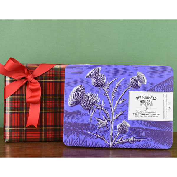 Giftwrapped Shortbread Fingers Tin