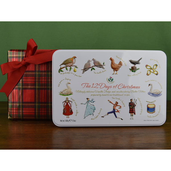 Giftwrapped 12 Days of Christmas Candy Tin