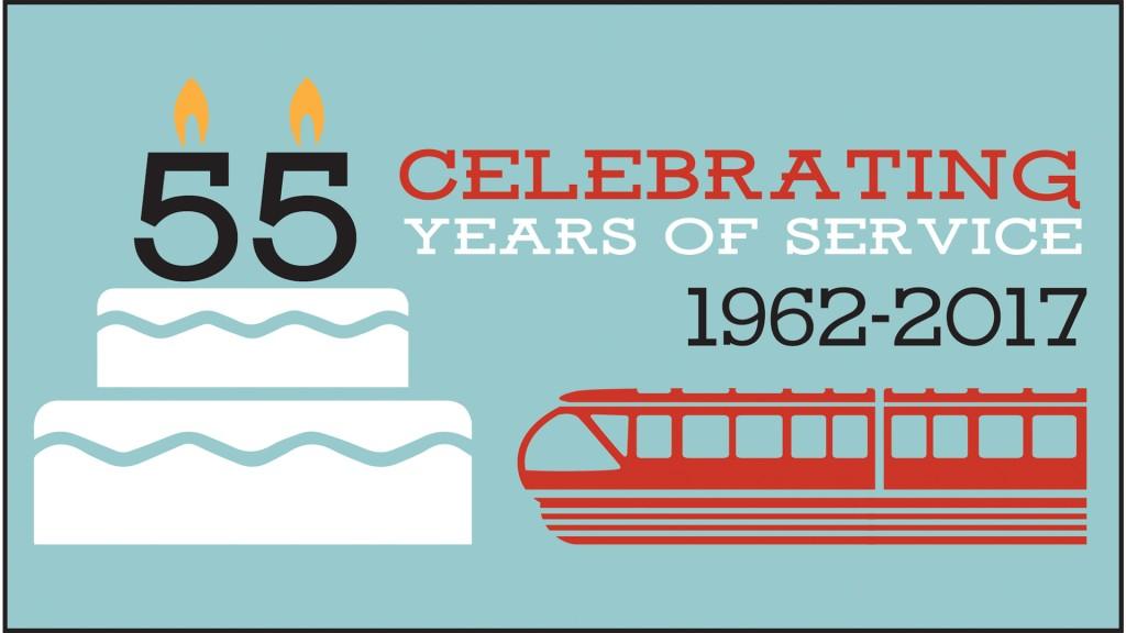 Seattle Center Monorail 55 Birthday