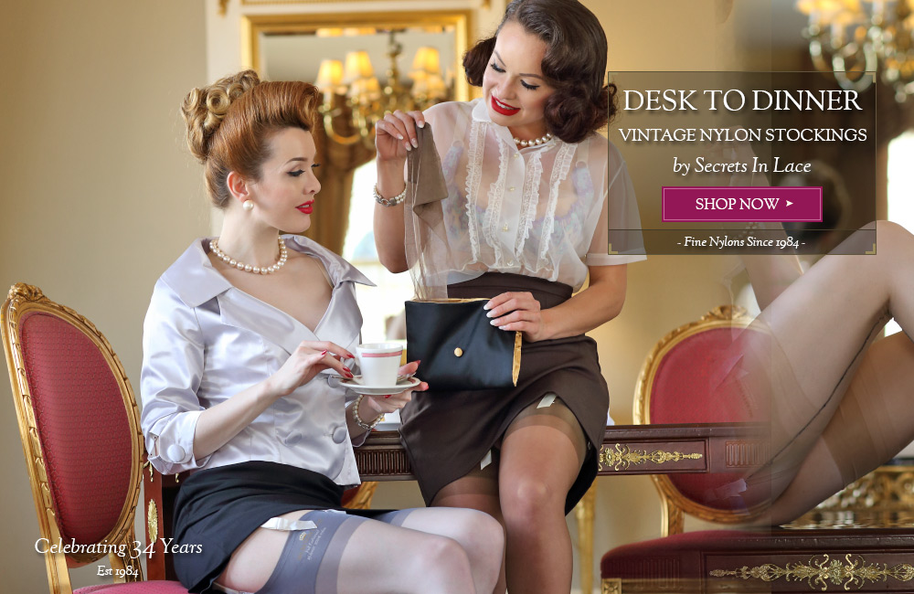 Secrets In Lace has the Largest Selection of Vintage Nylon Stockings in the World