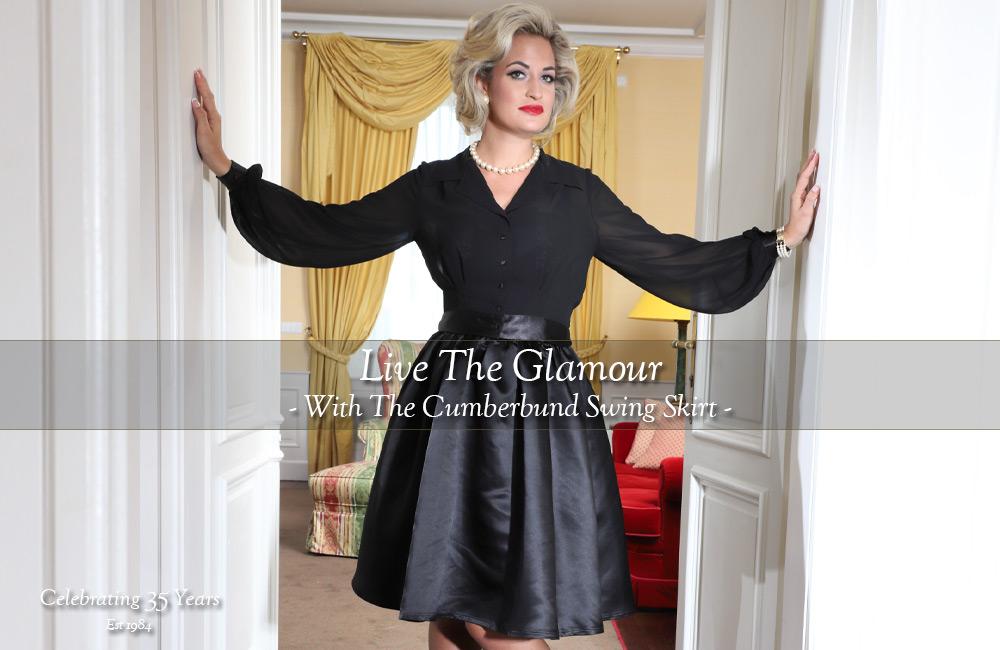Secrets In Lace Cumberbund Swing Skirt