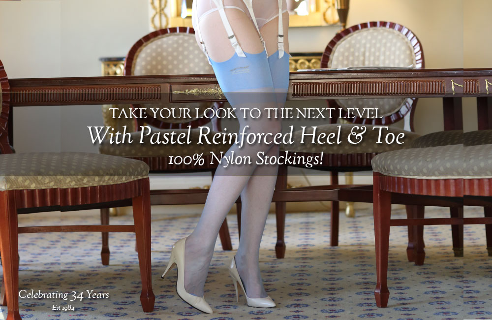 Secrets In Lace 100% Nylon Pastel Stockings