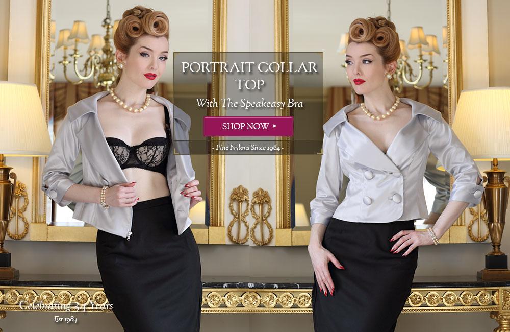 Classically Elegant Portrait Collar Top