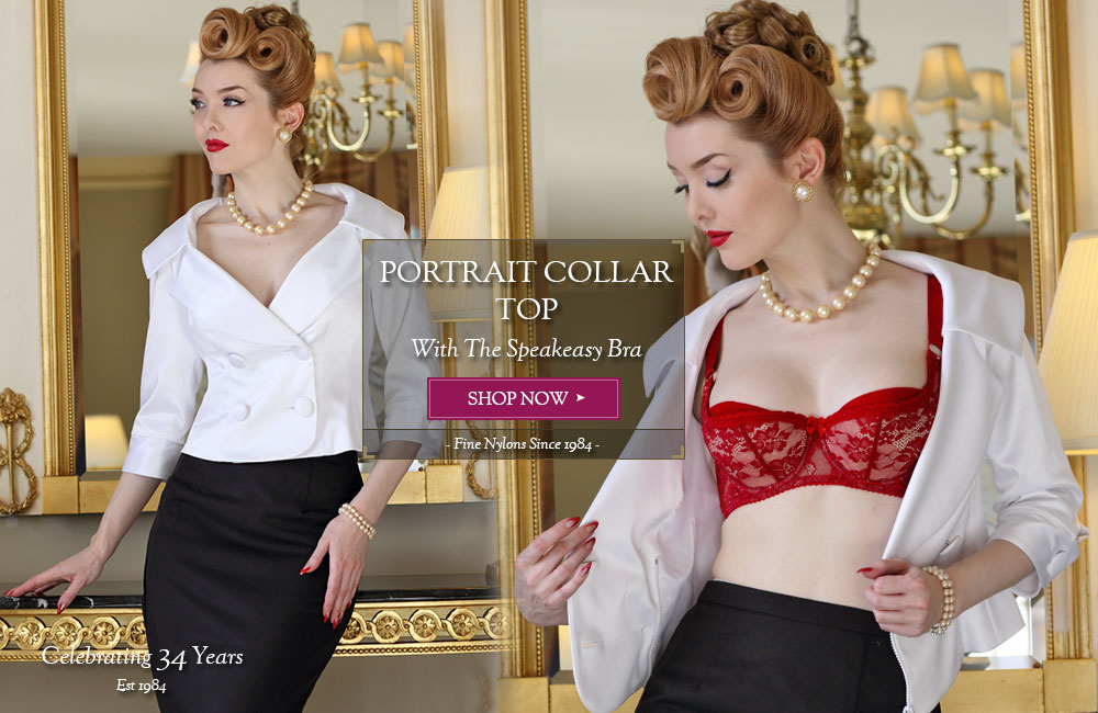 Classically Elegant Portrait Collar Top